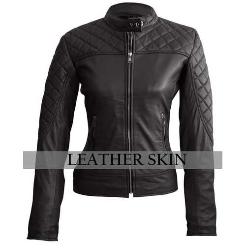 Women Black Leather Jacket