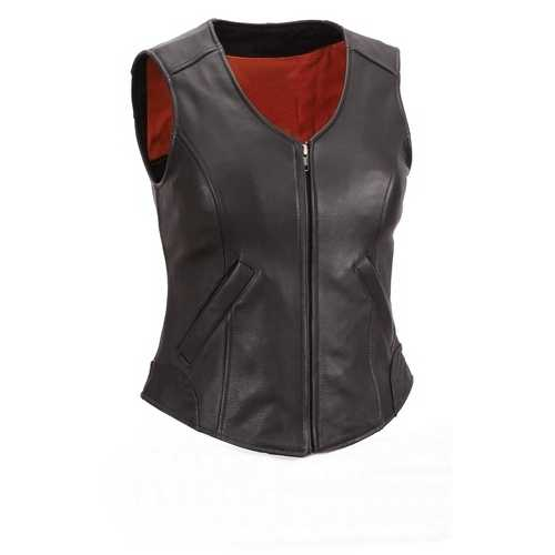 Women Leather Vest
