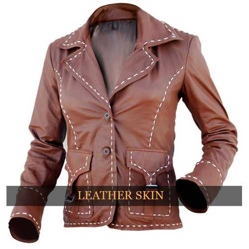 Brown Women Leather Jacket