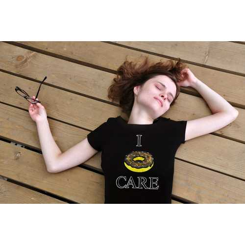 I Donut Care Women T-shirt