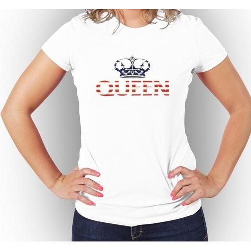 Queen USA Flag women Graphic T-Shirt