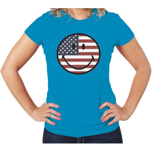 US Smile Face Women Grphic T-Shirt