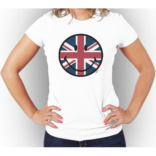 UK Smile Face Women Tee Assorted Colors