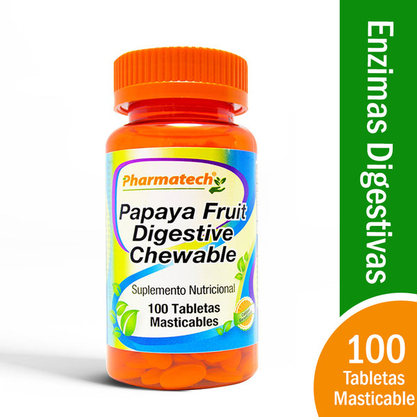 Papaya Fruit Digestive  (100 masticables)