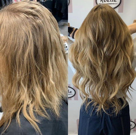 Before/After Veila Hair Extensions