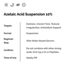 Load image into Gallery viewer, Azelaic Acid Suspension 10% (30ml)