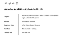Load image into Gallery viewer, Ascorbic Acid 8% + Alpha Arbutin 2%