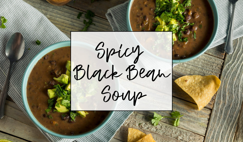 Spicy Black Bean & Pepper Soup