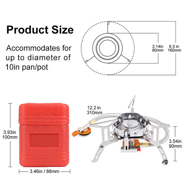 camping stove product size