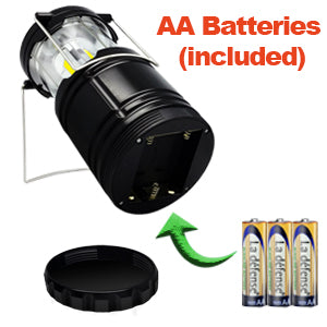 Camping LED Light with AA batteries included