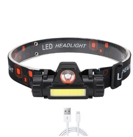 Headlamp wtih usb cable