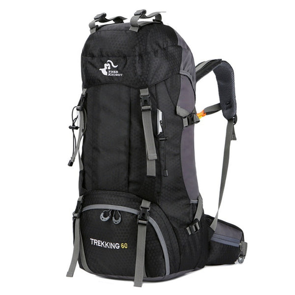 60Liter of trekking black backpack
