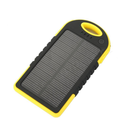 Yellow Solar power bank