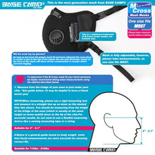 Load image into Gallery viewer, BASE CAMP® M Cross Dust Face Mask with Extra Activated Carbon Filters