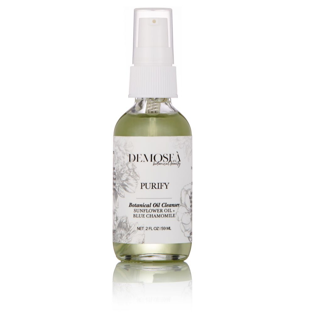 STEP 1: {PURIFY BOTANICAL OIL CLEANSER} REMOVES MAKEUP IN 2 WIPES