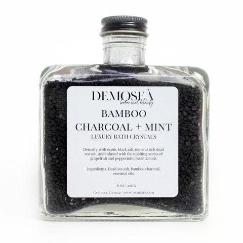 BAMBOO CHARCOAL AND MINT BATH CRYSTALS
