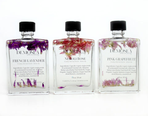 FLORAL-INFUSED BATH & BODY OIL SAMPLE KIT