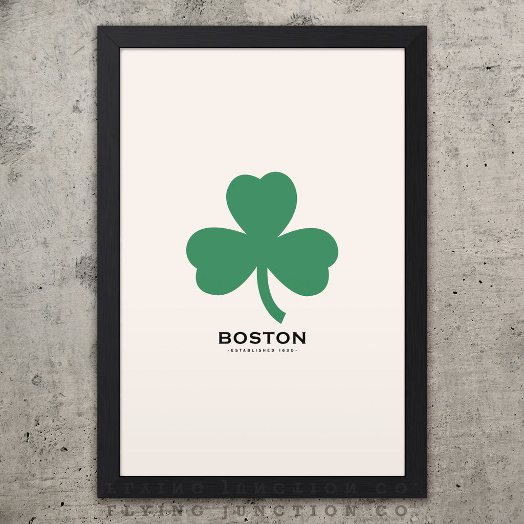 Boston Minimalist City Poster - Ivory