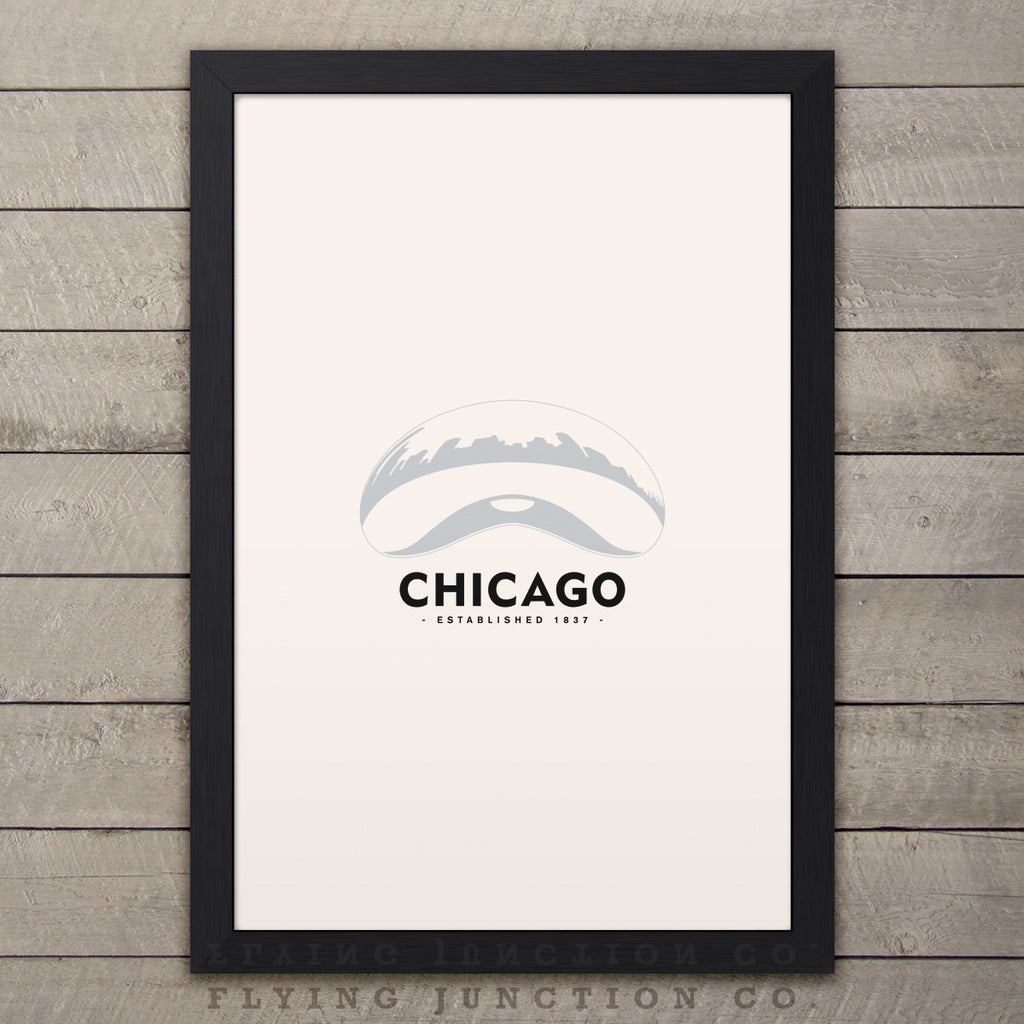 Chicago Minimalist City Poster - Ivory
