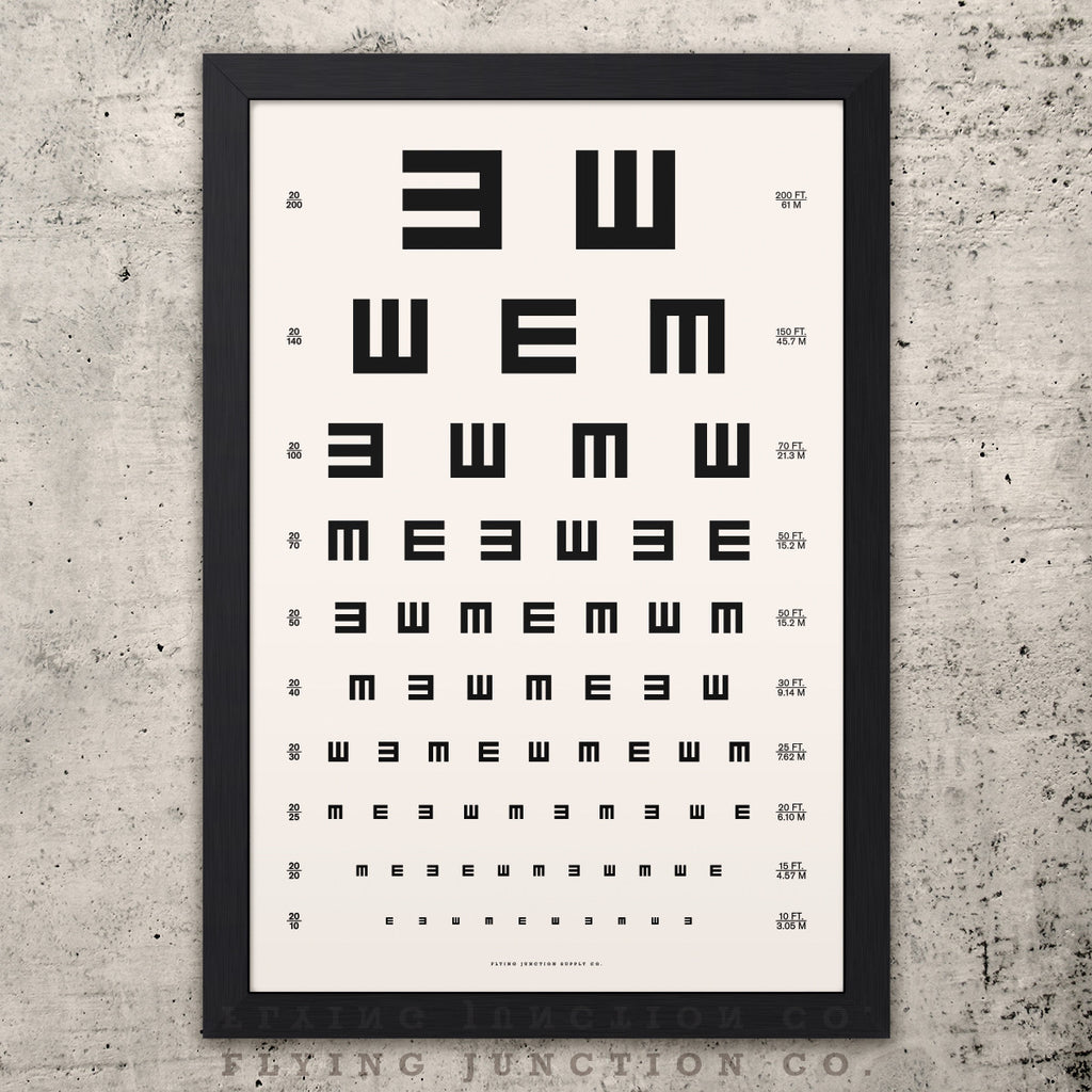 image regarding Eye Chart Printable titled Tumbling E Eye Chart Print