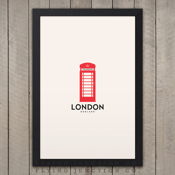 London Minimalist City Poster - Ivory