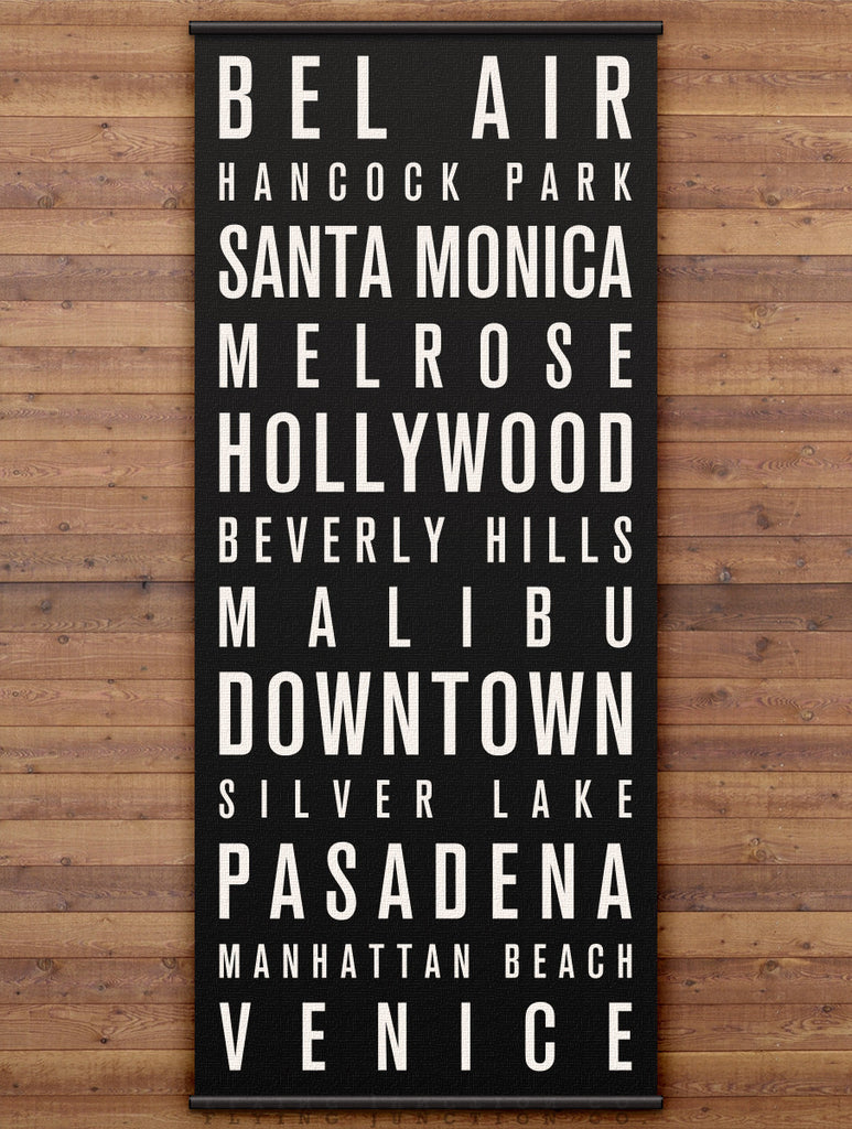 Los Angeles Canvas Bus Scroll / Subway Sign