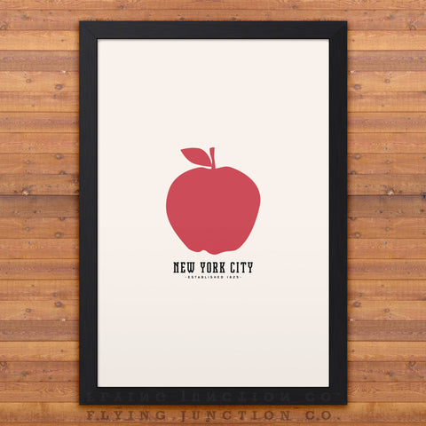 New York Minimalist City Poster - Ivory