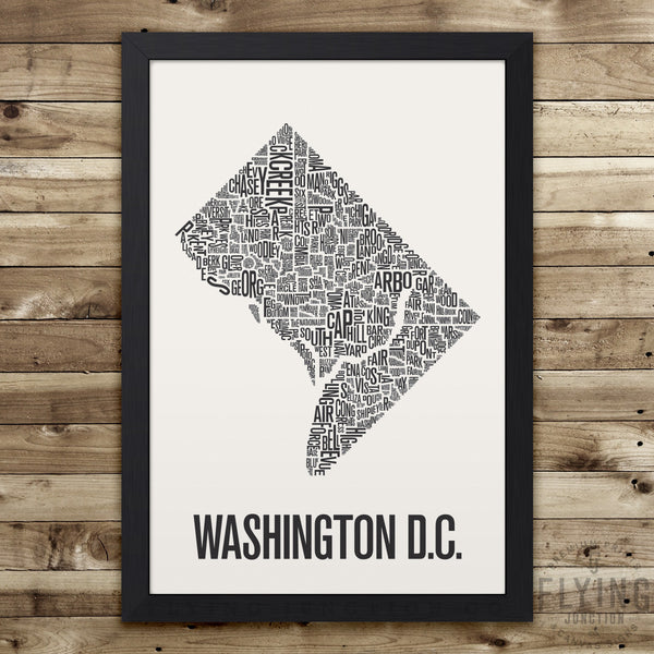 Washington D.C. Neighborhood Typography Map - White