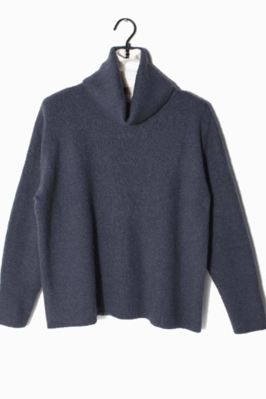 Denim Turtleneck Sweater - milogiftshop