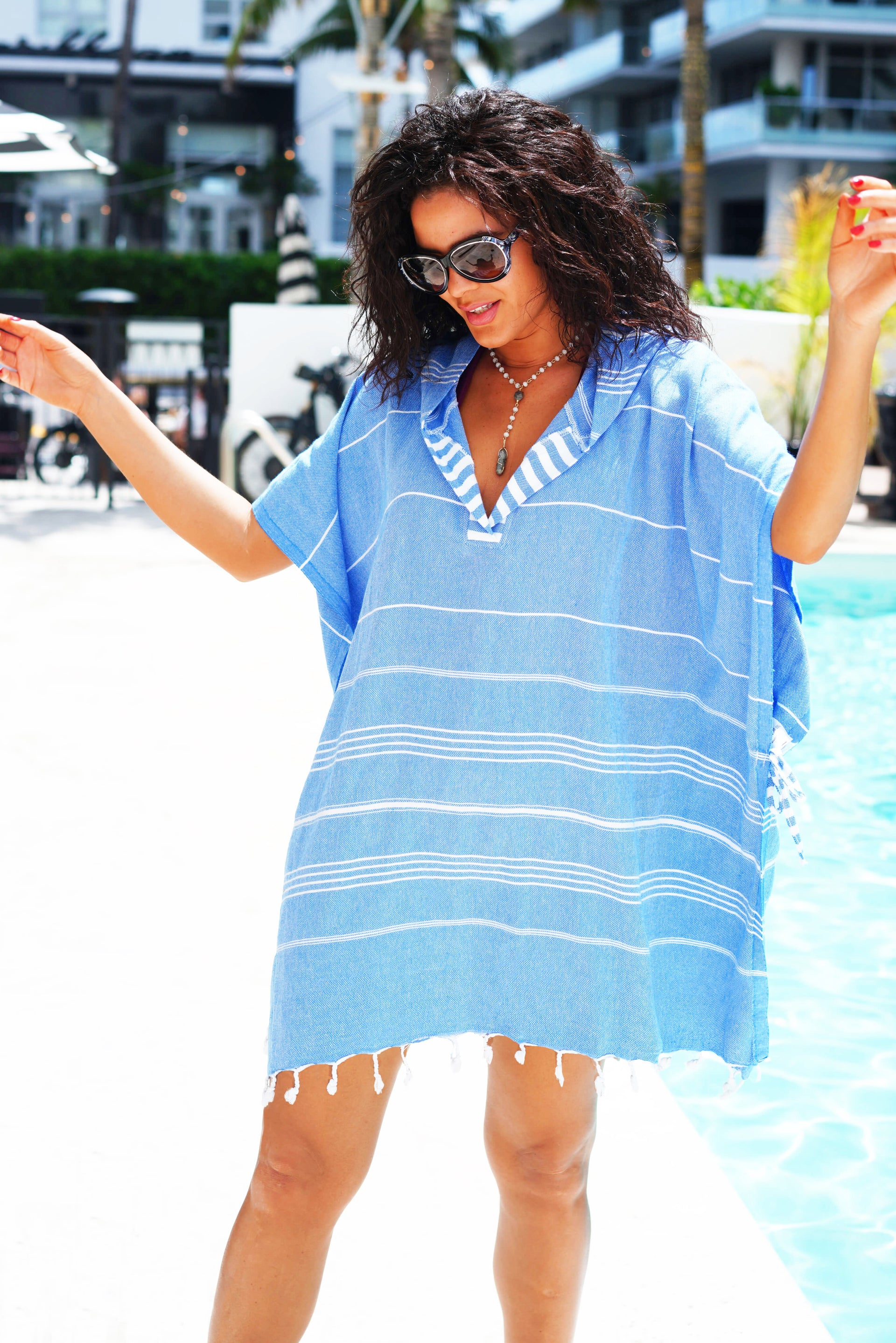 Bali Quick Dry Hooded Cover Up - milogiftshop