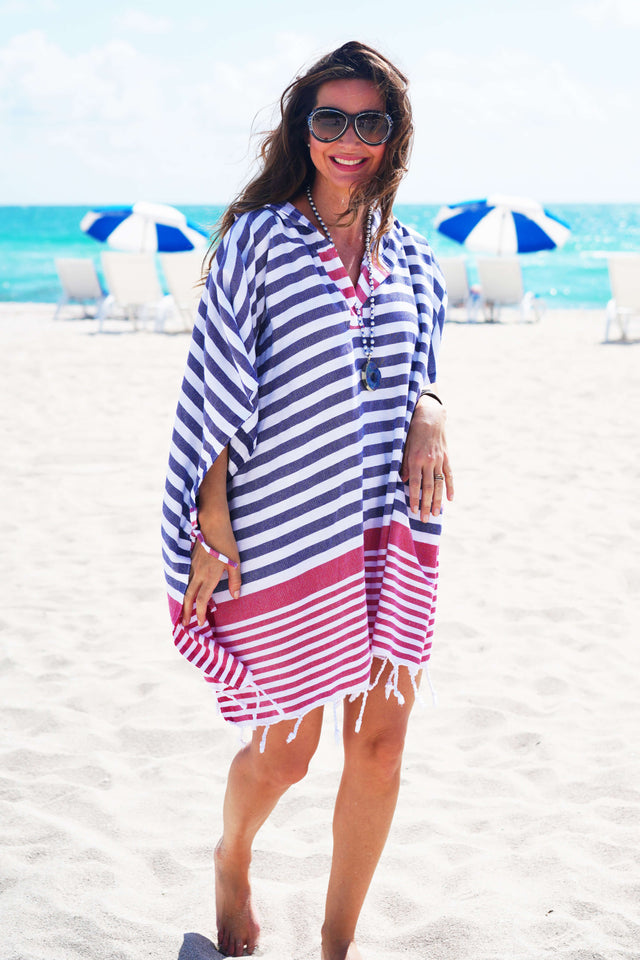 Nantucket Quick Dry Hooded Cover Up - milogiftshop