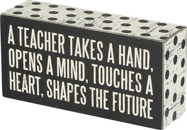 A Teacher Box Sign