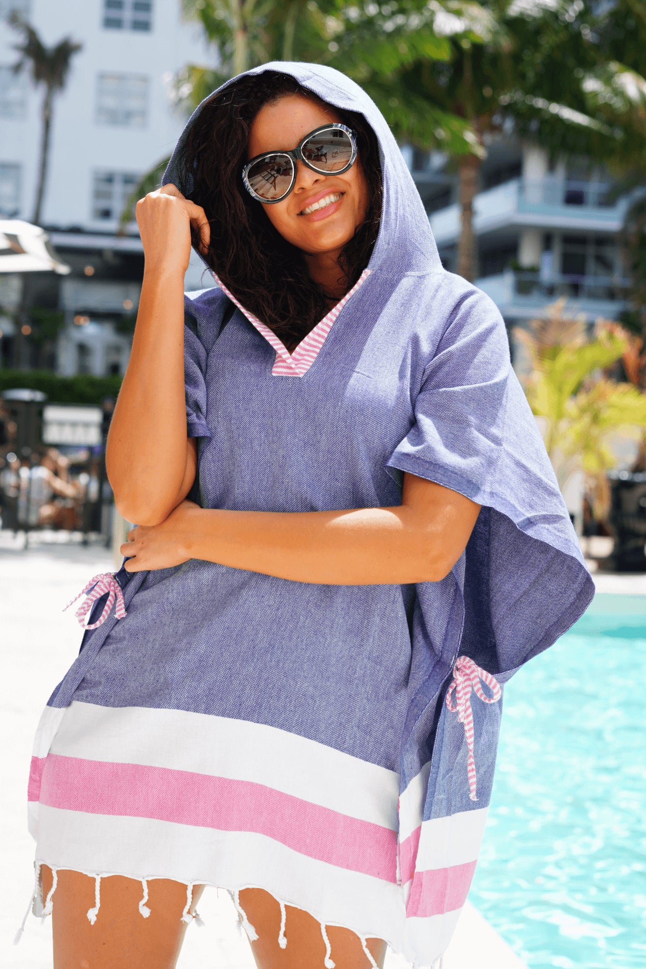 Oceana Quick Dry Hooded Cover Up
