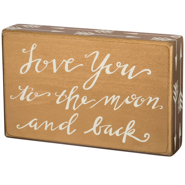 Moon and Back Box Sign