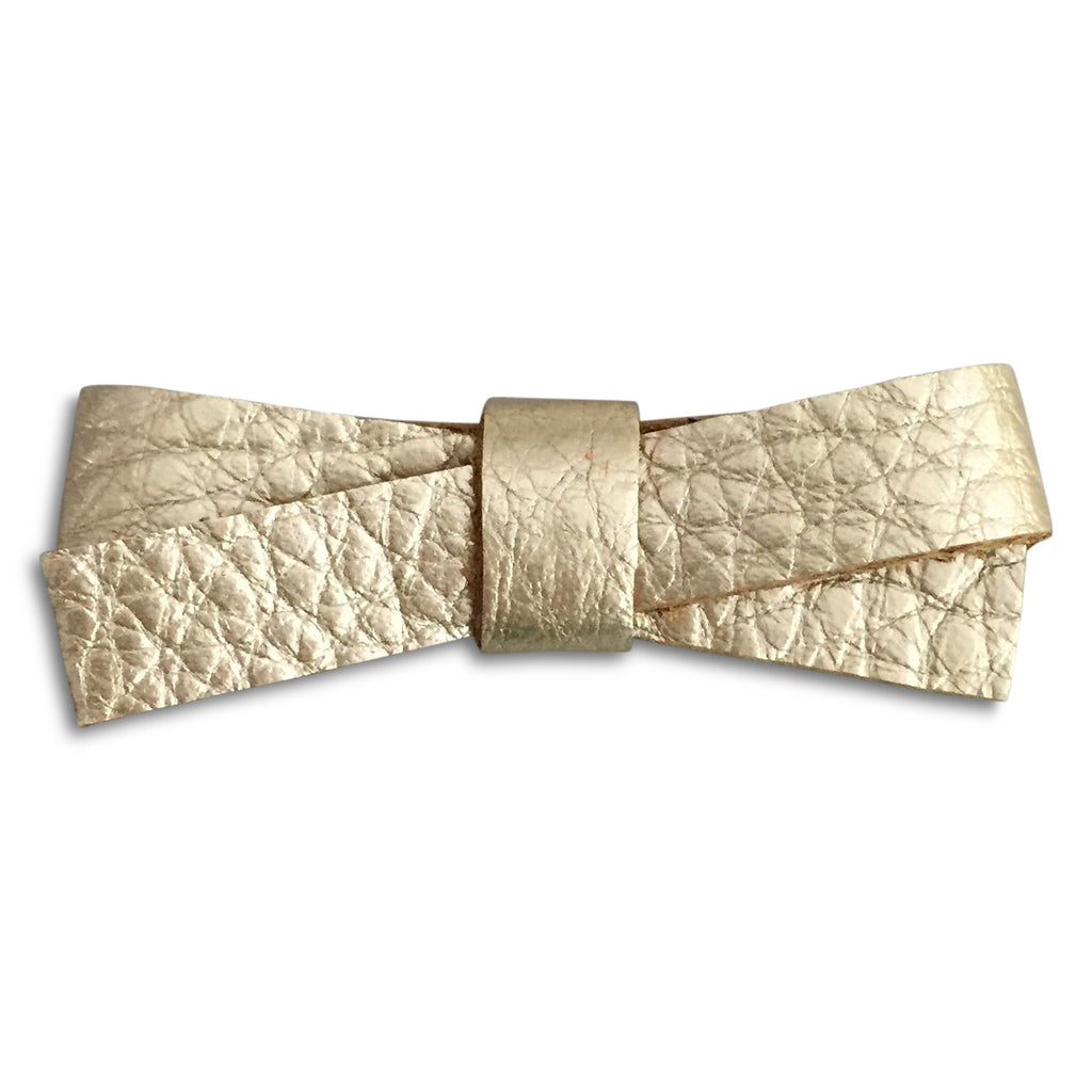 Slim Champagne Metallic Bow - milogiftshop