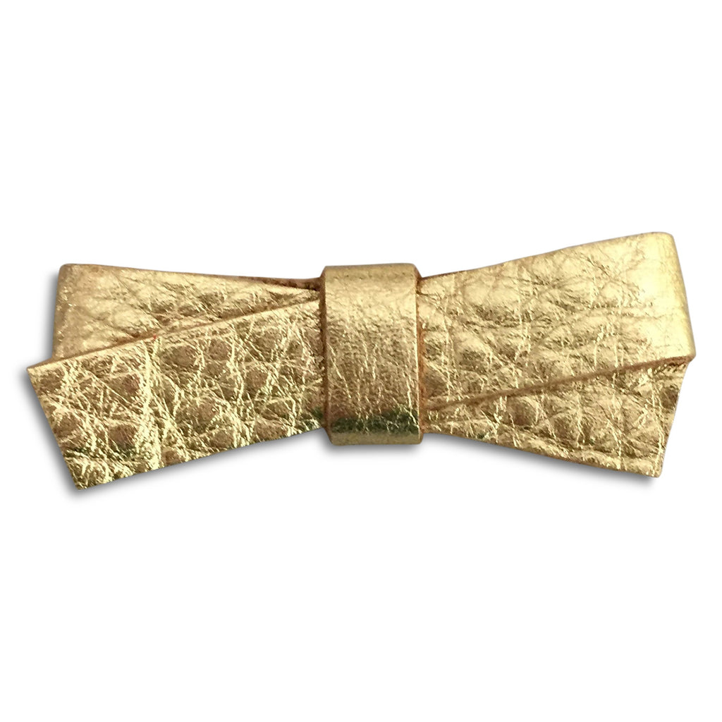 Slim Gold Metallic Bow - milogiftshop