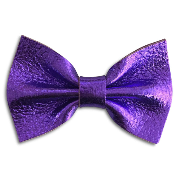 Purple Metallic Bow