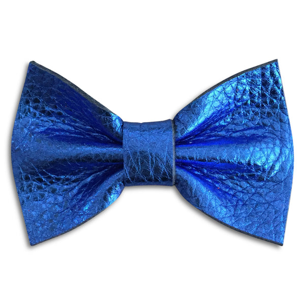 Blue Metallic Bow