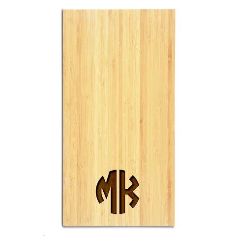 Circle Monogram Cutting Board