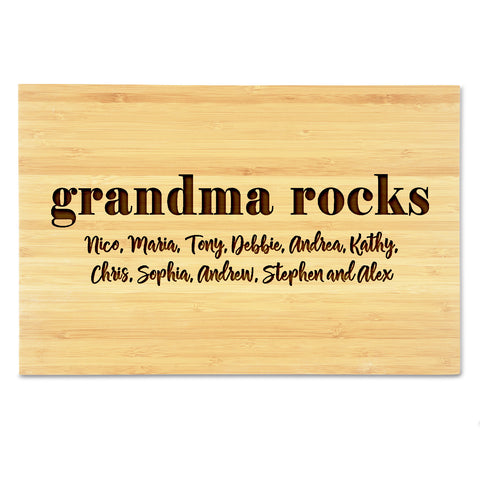 Grandma Rocks Cutting Board