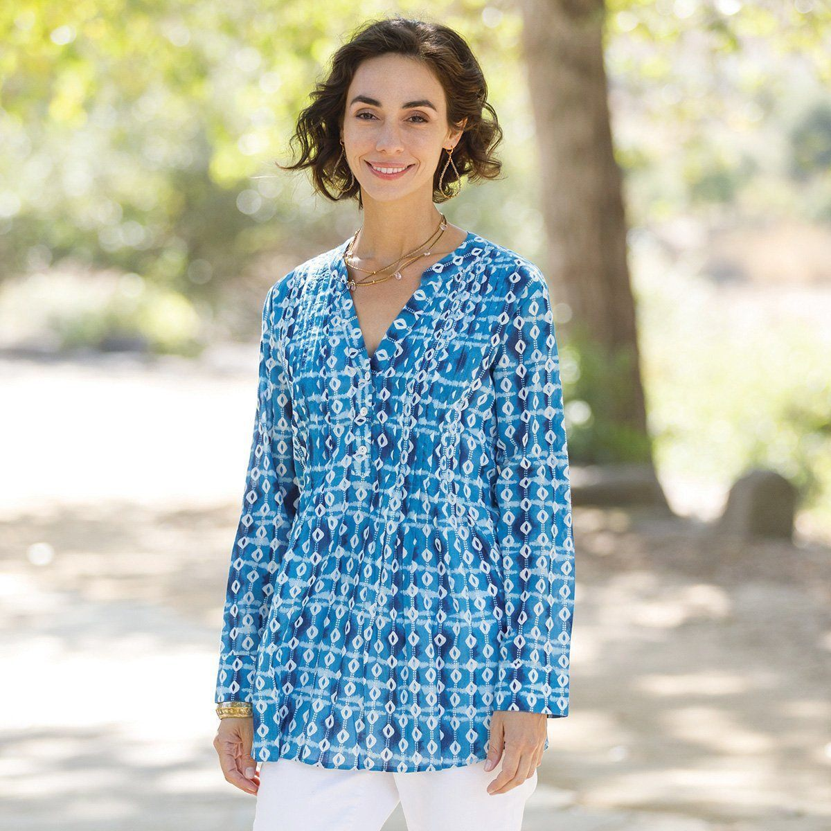 Paros Pintuck Long Sleeve Top - milogiftshop