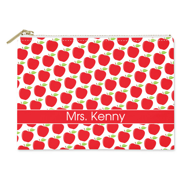 Apples Canvas Flat Pouch