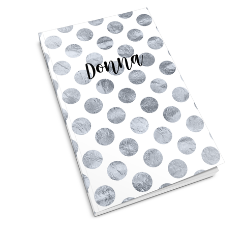 Silver Polka Dots Journal