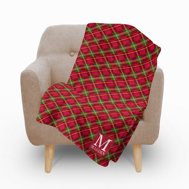 Holiday Plaid Blanket - milogiftshop