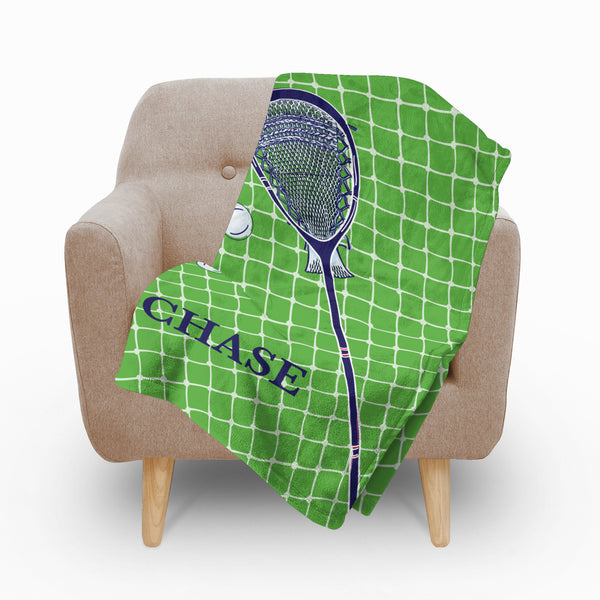 Lacrosse Boys Fleece Blanket