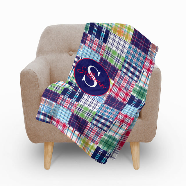 Madras Plaid Fleece Blanket - milogiftshop