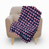 Modern Hearts Fleece Blanket