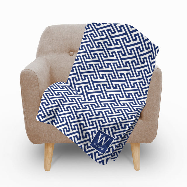 Mykonos Blue Fleece Blanket - milogiftshop