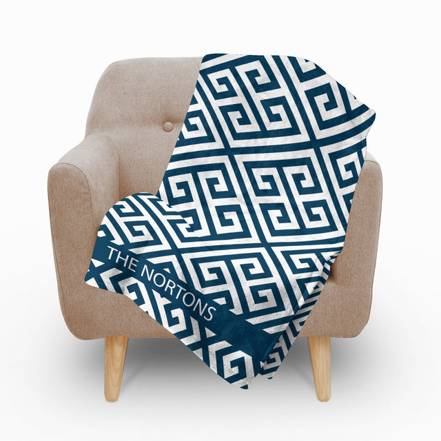 Paros Blue Fleece Blanket - milogiftshop