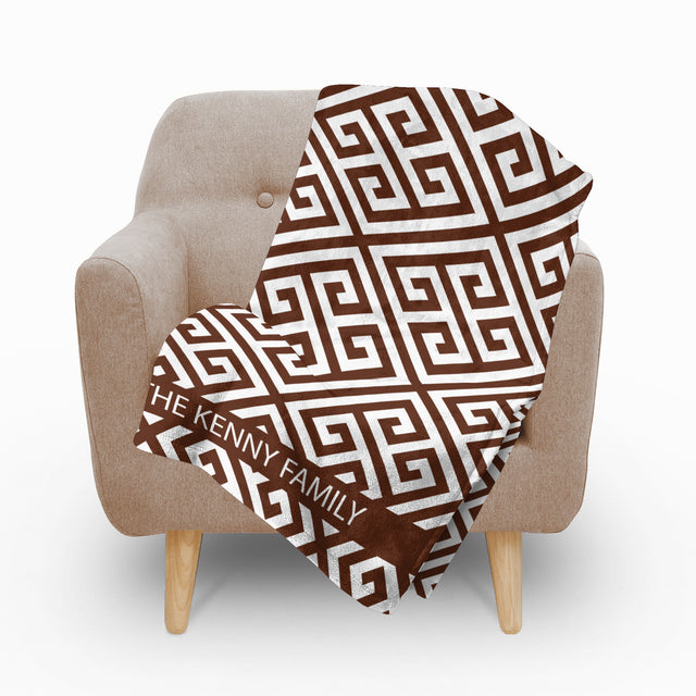 Paros Brown Fleece Blanket - milogiftshop